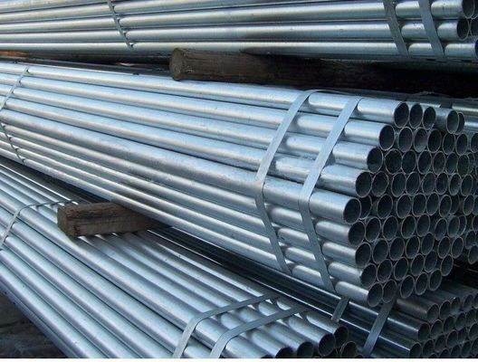 6m Panjang Hot Dipped Galvanized Steel Pipe Diameter 16 - 315mm untuk Pipa Air GB ASTM Standard