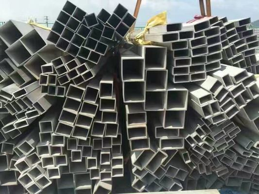 Grade 201 304 316L Square Welded Stainless Steel Pipe ASTM JIS GB EN Standar untuk Struktur